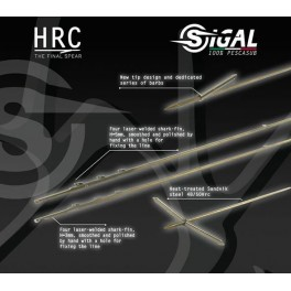 Asta Sigal HRC con pinnette - 7.5mm mono